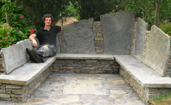 Remarkable Stone Benches Grounding Does It Jan Johnsen Bralicious Painted Fabric Chair Ideas Braliciousco